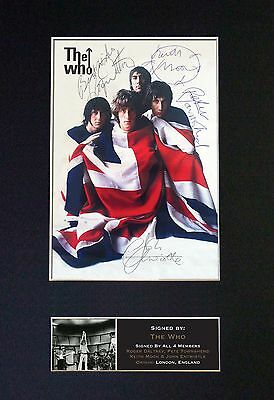 THE WHO Signed Mounted Autograph Photo Prints A4 448