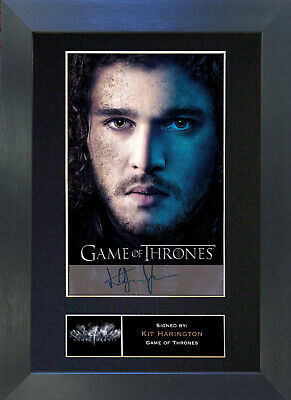KIT WARRINGTON Game Of Thrones Signed Mounted Autograph Photo Prints A4 349