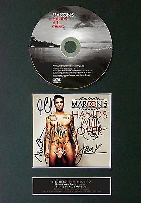 MAROON 5 Hands All Over Album Signed CD Mounted Autograph Photo Prints A4 64