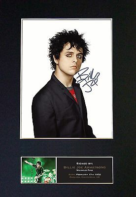 BILLY JOE ARMSTRONG No2 Green Day Signed Mounted Autograph Photo Prints A4 73