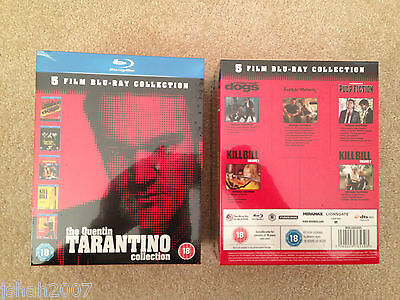 The Quentin Tarantino Collection 5 Film Blu Ray BRAND NEW SEALED **LOOK**