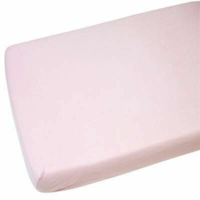 Fitted Sheet Compatible With Snuzpod Bedside Crib 100% Cotton - Pink