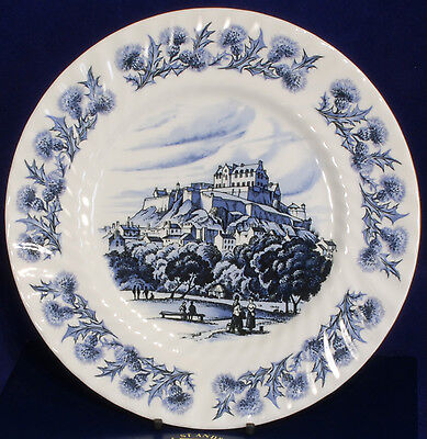 Boxed Plate with View of Edinburgh Castle by St Andrews Pottery Scotland