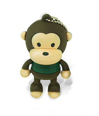 SATZUMA 4GB Monkey USB Flash Drive Speicherstick im Affendesign brown