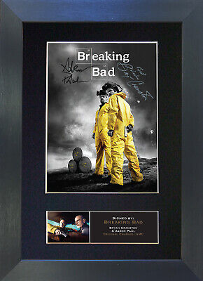 BREAKING BAD Signed Mounted Autograph Photo Prints A4 362
