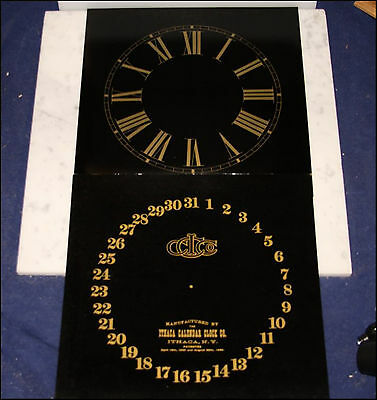 Ithaca Calendar Clock Pair Of Gold & Black Dials For Fashion Belgrade