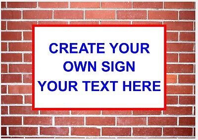 3mm Metal Bespoke Custom Made Sign - Shop Business Home - Create Your Own Sign