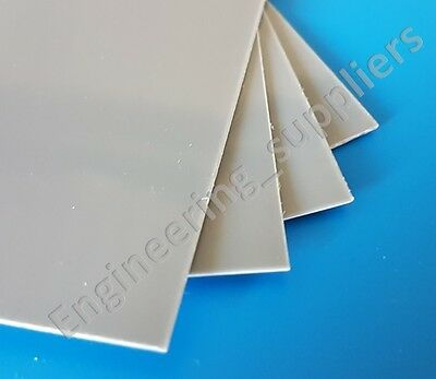 0.5mm Thick Grey High Impact Polystyrene HIPS Plasticard Sheet A5 A4 A3