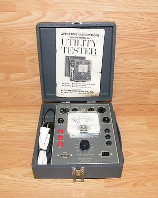 Vintage Accurate Instrument Company Model 161 - Utility Tester & Manual **READ**