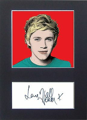 NIALL HORAN 1D One Direction Pop Art Signed Mounted Autograph Photo Prints A4