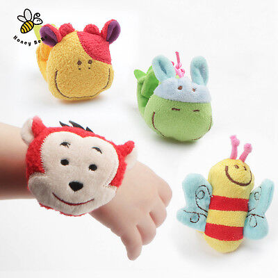 1Pc Animal Baby Toys 0-12 Months Plush Baby Rattles Baby Toy Wrist Strap