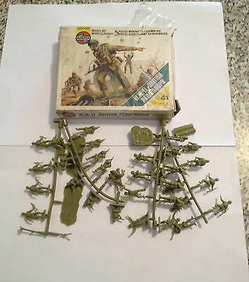 Airfix 01723 W.w.2 British Paratroops Serie Completa 41 Pezzi Scatola Scala H0
