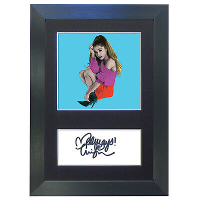 ARIANA GRANDE Pop Art Signed Mounted Autograph Photo Prints A4