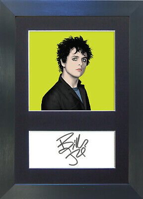 BILLIE JOE ARMSTRONG Green Day Pop Art Signed Mounted Autograph Photo Prints A4
