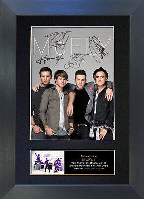 MCFLY Signed Mounted Autograph Photo Prints A4 303