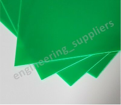 0.5mm Thick Green High Impact Polystyrene HIPS Plasticard Sheet A5 A4 A3