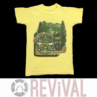• Vintage 70s BLACK MAGIC Great American Explorer Youth Kids T Shirt Small S