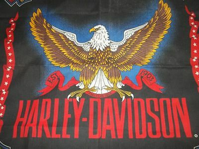 "Harley Davidson Scarve/ Bandana With Logo And Eagle "" American Made"" Free/ship"