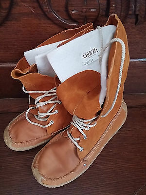 New Cherokee Native Mukluks High Top Moccasin Boot Uni Sex Suede Sz 8 Winter