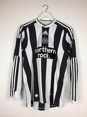 NEWCASTLE UNITED 09/10 L/S Home Football Shirt (S) Soccer Jersey Adidas