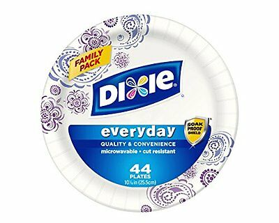 NEW Dixie HD Paper Plates, 10 1/16 Inches, 44 Count (Pack of 5) Free Shipping