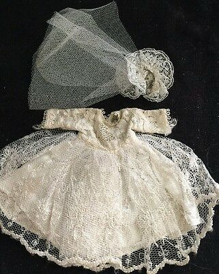 Vintage Vogue Ginny Tagged Bride's Dress Wedding Gown With Veil