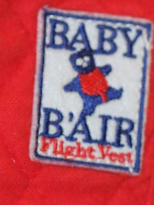 Baby B'Air Bair Flight Vest Toddler Red Quilted Cotton Fabric Airplane Harness