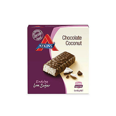 NEW Atkins Endulge Chocolate Coconut 200g - 5 Pack