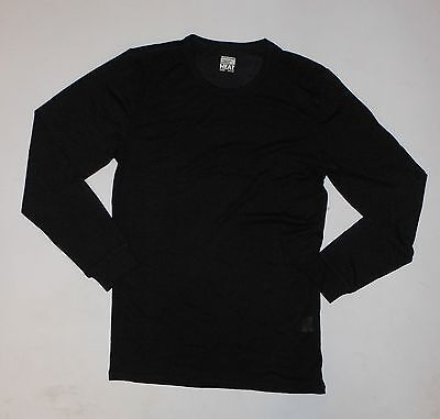 NWT WEATHERPROOF Men's Long Sleeve Crew Neck BLACK Thermal Base Layer  SMALL