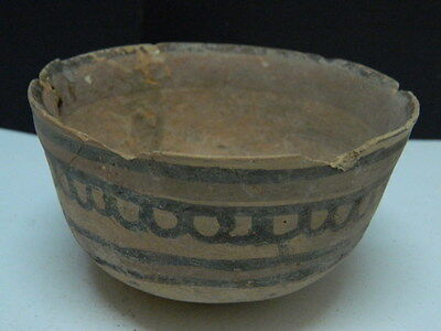 "Ancient Indus Valley Teracotta Painted Pot C.2500 Bc   """"t15244"""""