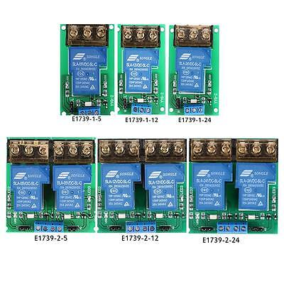DC 5V/12V/24V 30A 1-Channel/2-Channel Relay Module Board High/Low Trigger S6A9