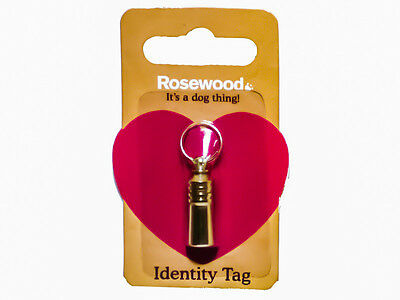 Rosewood Top Quality Dog Cat  Pet ID Identity Tag /Tube  From £1.78 Each