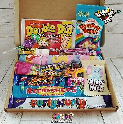 Retro Sweet Hamper Gift Box Selection Mixed Candy Birthday Present Personalised!