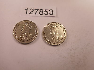Lot - Two 1922 Canada Five Cents - Nice Higher Grade Coins - # 127853