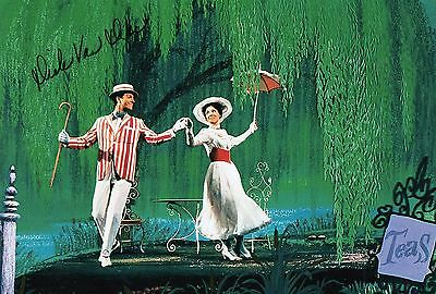 Authentic Signed Dick Van Dyke Mary Poppins 12 X 8 Photo ...real Signature