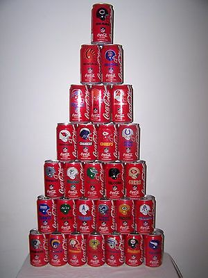 Classic Coca-Cola 1992 NFL Collector Series - Complete 28 Can Set - Good #1