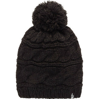 North Face Tri Cable Pom Womens Headwear Beanie Hat - Tnf Black One Size