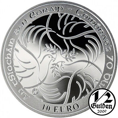 IRELAND 10 Euro 2015 Anniversary of Peace in Europe Silver Proof Coin