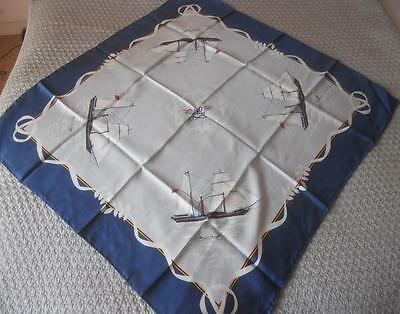 Fabulous Beckford Pure Silk Scarf Square P & O 150 Years The William Fawcett