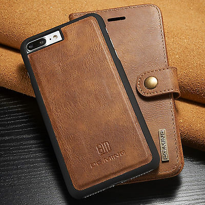 iPhone 7 & 7 Plus Leather Removable Wallet Magnetic Flip Card Slot Case Cover