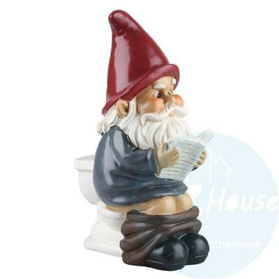 Garden Gnome On A Throne - Mooning Toilet Garden Ornament Figurine by Big Mouth