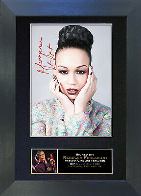 REBECCA FERGUSON Signed Mounted Autograph Photo Prints A4 214