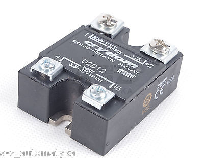 CRYDOM SOLID-STATE REALY D2D12  Solid State Relay 3,5-32VDC 200VAC 12A