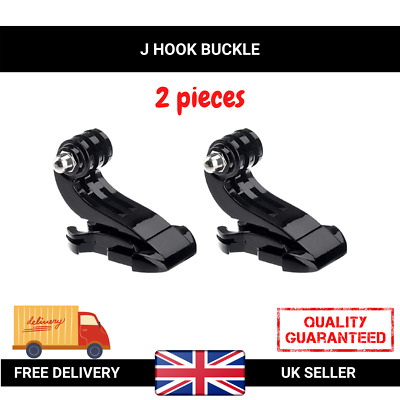 2x Vertical Surface J Hook Buckle Clip Mount For GoPro HD Hero 1 2 3 3+ 4 Pair