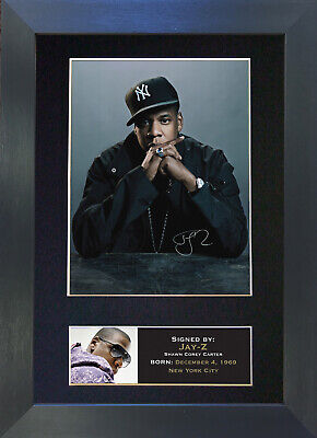 JAY Z Signed Mounted Autograph Photo Prints A4 87