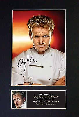GORDON RAMSEY Signed Mounted Autograph Photo Prints A4 14