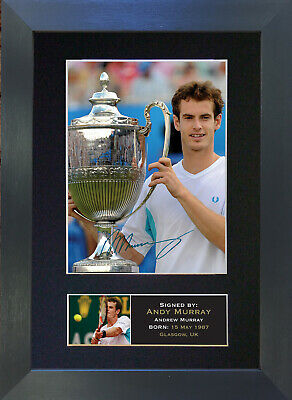 ANDY MURRAY Signed Mounted Autograph Photo Prints A4 43