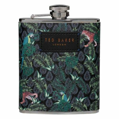Ted Baker Jungle Print Hip Flask BN Designer Mens Gifts Accessories