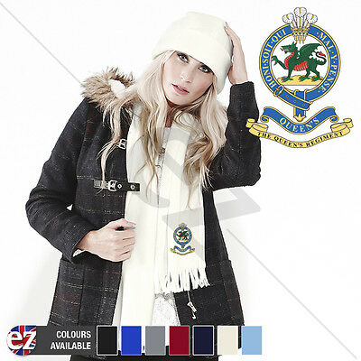 Queens Regiment - Scarf - With Embroidered Badge