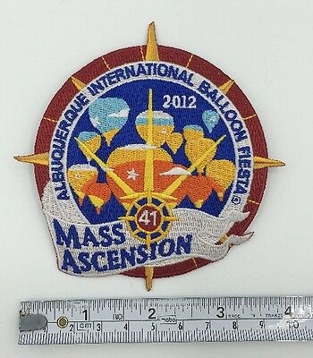 2012 Albuquerque International Balloon Fiesta OFFICIAL Mass Ascension Patch AIBF